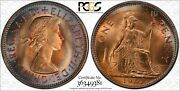 1967 Great Britain 1 One Penny Pcgs Ms64 Very Nicely Color Toned Great Coin
