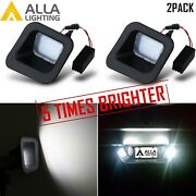 Set Of 2,led White License Plate Light Tag Lamp Assembly Replace,for Ram Trucks
