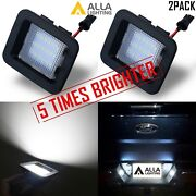 Set Of 2,led White License Plate Light Tag Lamp Assembly Replace,raptor Trucks