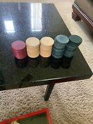 Vintage Clay Poker Chip Lot 89 Assorted Clay Chips Gambling Rare