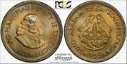 1964 South Africa 1/2 Cent Bu Pcgs Ms65 Color Toned Coin Only 1 Graded Higher