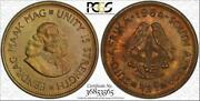 1964 South Africa 1/2 Cent Pcgs Pr64 Proof Color Toned Coin In High Grade