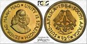 1964 South Africa 1/2 Cent Pcgs Pr66 Proof Color Toned Coin Only 8 Graded Higher