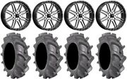 Msa Machined Brute 22 Wheels 35 Bkt At 171 Tires Can-am Renegade Outlander