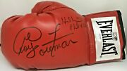 George Foreman And Evander Holyfield Signed Left Red Boxing Glove Jsa Gf Holo
