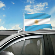 Argentina Car Flag, 18x12 Country Window Clip On Flag Pole Graphic+hardware
