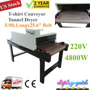 Us 220v Screen Printing Conveyor Tunnel Dryer 5.9ft.long X 25.6and039and039 Belt T-shirt
