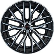 4 Flare 20 Inch Black Rims Et20 Fits Ford Transit Connect Wagon 2010-2020