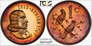 1967 South Africa 1 Cent Pcgs Pr65rb Color Toned Proof Only 8 Graded Higher