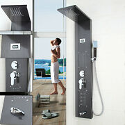 Us Bathroom Shower Panels Digital Screen Thermostatic Jets Wall Mount Faucet Set