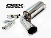 Obx Exhaust System Fits 01 To 09 Volvo S60 2.0 2.4 2.5 T5 Fwd Catback