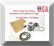 6 Kits Of Auto Trans Filter Kit Hf35153 Fits For Vehicles With Allison Trans