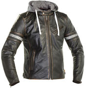 Richa Toulon 2 Leather Motorbike/scooter Removable Hoodie Sporty Urban Jacket