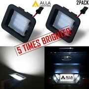 Pair Led Pure White Bright License Plate Light Assembly Replace,raptor Trucks