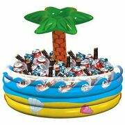 Amscan Palm Tree Oasis Inflatable Party Cooler, 28.5 X 26.5