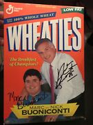 Dolphins 1972 Nick Buoniconti And Marc Buoniconti Signed Wheaties New Cereal Box
