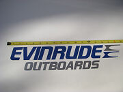 Evinrude Outboards Decal - Large - Blue And Silver