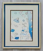 Mid Century Modern Framed Peter Max Pencil Signed Lithograph If 111/280