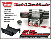 2500lb Warn Vrx 25 Winch Mount Combo Yamaha Grizzly 660 2002-2008