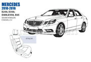 Mercedes E Class Front Leather Seat Cover Set 2010-16 Oem New