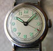 Vintage Military Style Eterna Steel Wwii Period Wristwatch Good Condition