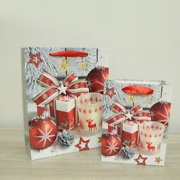 50x Christmas Printed Gift Bags Xmas Festive Party Wrapping Paper Novelty Bag