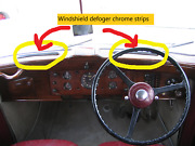 Windshield Defroster Strips For Early Post War Rolls-royce And Bentley 1946-59