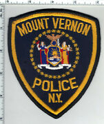 City Of Mount Vernon Police New York 2nd Issue Shoulder Patch