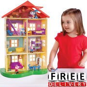 Girl Doll House Peppa Pig Family Playset Light Sound Girl Boy Toy Furniture New
