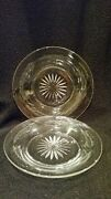 S/2 Vintage Heisey Bread And Butter Plates/coasters 4 11/16 Diam