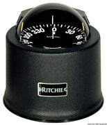 Ritchie Globemaster Compass With Cover 5 Inches Black/blac
