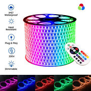 Rgb Led Strip 220v 240v 5050 60/120 Led/m Ip67 Waterproof Rgb Led Strip Uk Plug