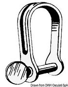 Osculati Stainless Steel Short Strip Shackle 5 Mm