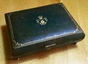 Rolex Vintage Watch Box Very Rare 1950and039s Submariner Gmt 6536 6538 5508 6542 Oem/