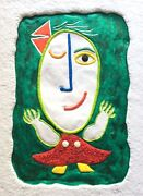 Juan Garcia Ripolles Painting On Paper And Murano Glass Ripollés 33/50 Limited +