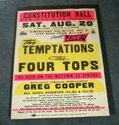 Motown Original The Temptations And 4 Tops Globe Boxing Style 89 Concert Poster