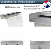 Waterfall Box Pool Fountain Stainless Steel Water Wall Pool Pond Spillway