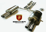 Becker Stainless Steel Catback Exhaust For 2003-2006 Volvo Xc90 2.9l T6 Turbo