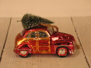 Pottery Barn Woody Car Christmas Ornament - New, Rare, Hard To Find