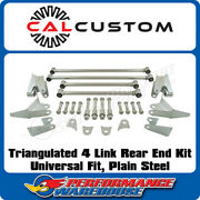 Universal Fit Triangulated 4 Link/4 Bar Rear End Kit, Mild Steel