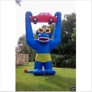 20ft 6m Inflatable Advertising Giant Gorilla Holding A Car With Blower Jzx