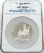 2013 Britannia Andpound10 Ten Pound Silver Proof 5oz Coin Ngc Pf69 Uc First Releases