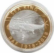 2018 Royal Air Force Sea King Piedfort £2 Two Pound Silver Proof Coin Box Coa
