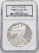 2006 United States Liberty Eagle 1 One Dollar Silver Proof 1oz Coin Ngc Pf70 Uc