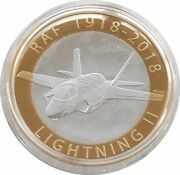 2018 Royal Air Force Lightning Ii £2 Two Pound Silver Proof Coin Box Coa