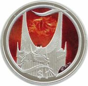 2003 New Zealand Lord Of Rings Eye Of Sauron 1 One Dollar Silver Proof Coin