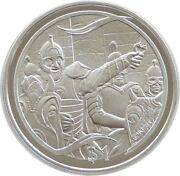 2003 New Zealand Lord Of The Rings Theodon Rides 1 One Dollar Silver Proof Coin