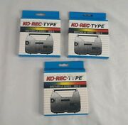 Lot Of 3 Ko-rec-type Compatible 3022-0 Cartridge Ribbon For Brother Ax Series