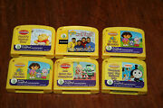 Lot Of Six Leap Pad Cartridges Yellow My First Leap Pad Learning System