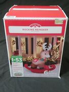 New Rocking Reindeer 6 Ft Wide Christmas Airblown Inflatable Yard Outdoor Decor